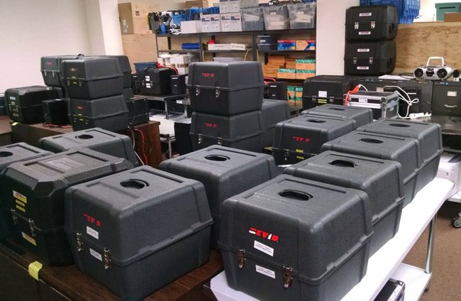 Electronic voting machines at the Flagler County Supervisor of Elections office. (Supervisor of Elections)
