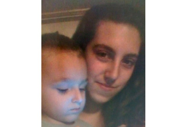 Elisa Marie Homen and her son in an image provided by her family.