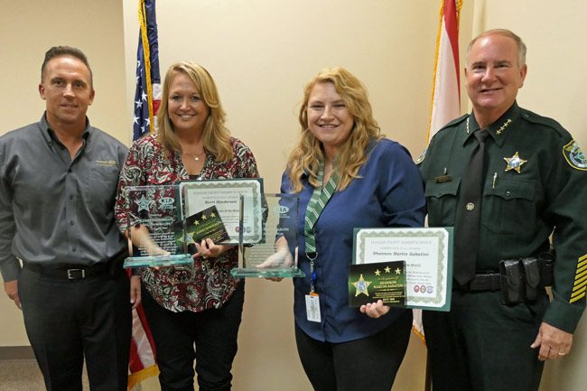 The Flagler County Sheriff's Employees of the Quarter: