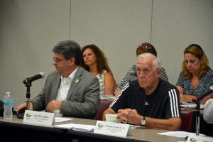 Commissioners Nate McLaughlin, left, and Charlie Ericksen. (© FlaglerLive)