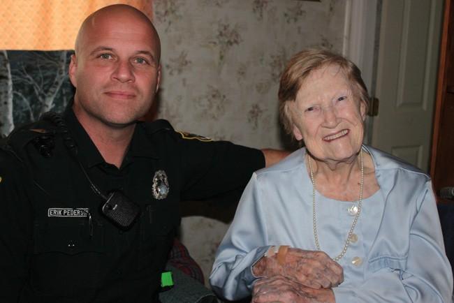 Deputy Erik Pedersen and Ann Parker, whom Pedersen helped reconnect to the world.