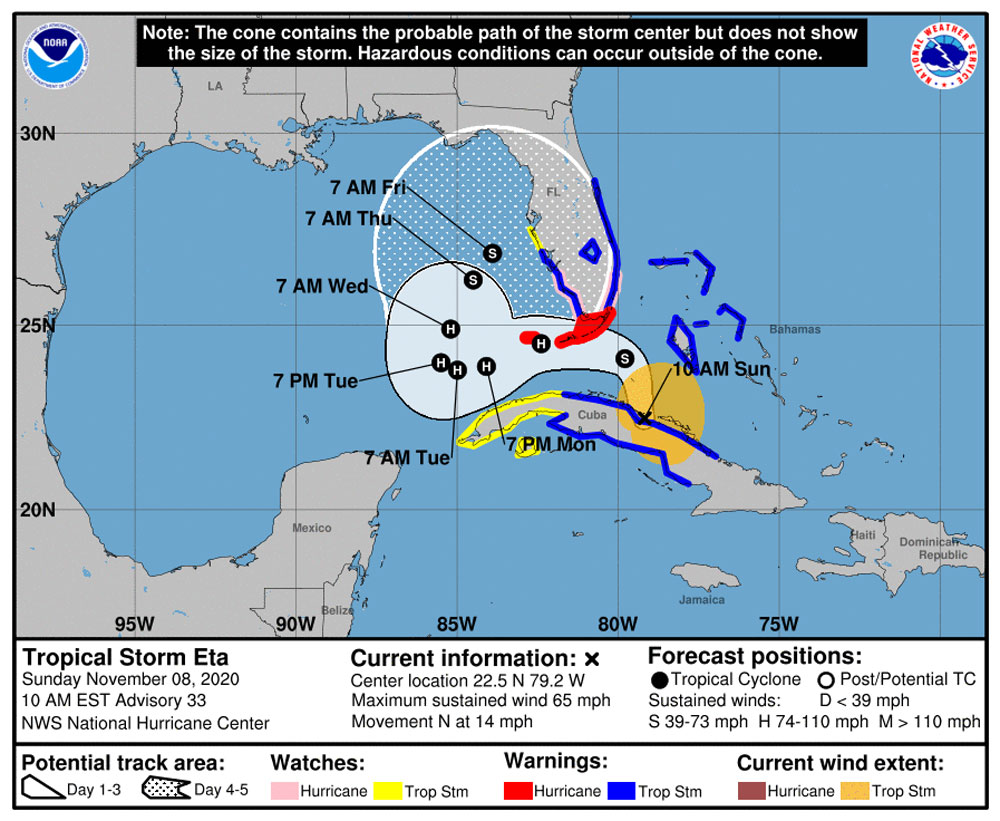 Tropical Storm Eta Update