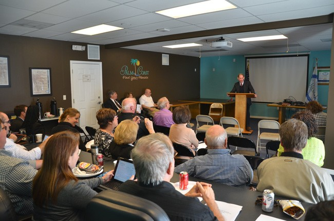 An ethics training session offered by Palm Coast's city attorney on Tuesday drew elected officials from every Flagler municipality and two county commissioners, but no other constitutional officers. (© FlaglerLive)