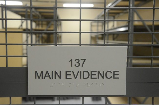 The evidence room at the Sheriff's Operations Center before it was in use. (c FlaglerLive)