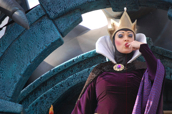The Evil Queen gauges the winds of a boycott from her Disney perch. (© FlaglerLive)