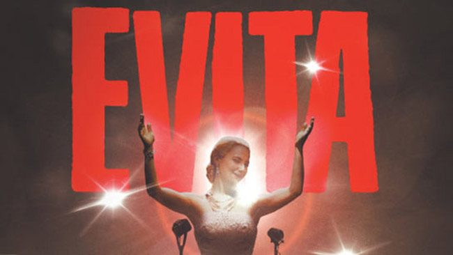 'Evita,' the Andrew Lloyd Weber musical, is at the Flagler Playhouse today through Sunday. See below for details.