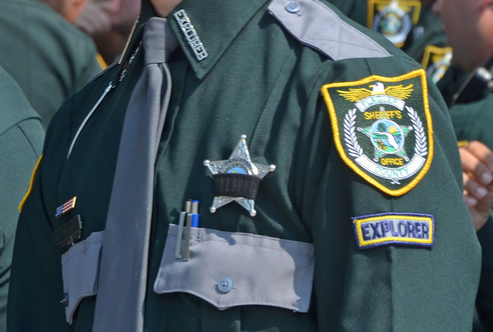 The girl was immediately discharged from the Flagler County Sheriff's Explorer program upon her arrest. (© FlaglerLive)