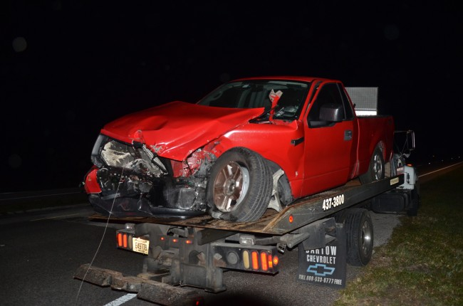 The remains of the F-150. Click on the image for larger view. (© FlaglerLive)