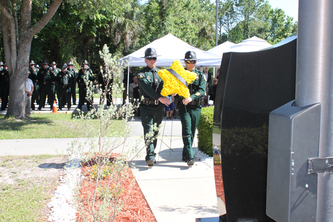 Four Flagler County Sheriff's deputies were remembered at the annual ceremony to the fallen on Tuesday. (FCSO)