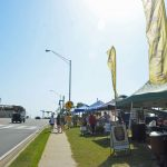 The Flagler Beach Farmers' Market in its heyday, in 2015. A 97-room hotel is proposed for the site along State Road 100, returning the 1.3-acre parcel to its former uses. (© FlaglerLive)