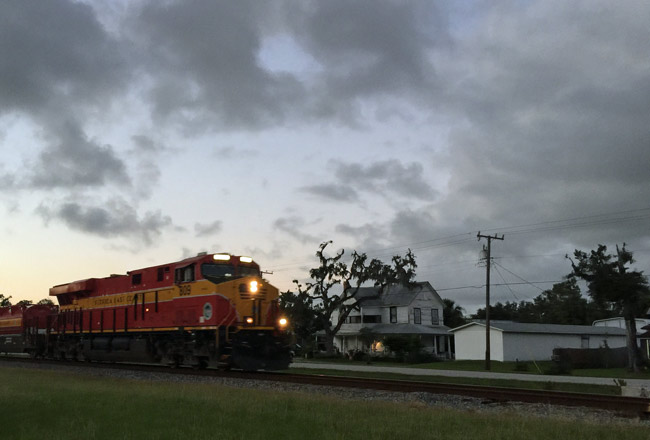There were 105 deaths in six years on more than 350 miles of Florida East Coast Railway tracks, which run through Bunnell, above. (© FlaglerLive)