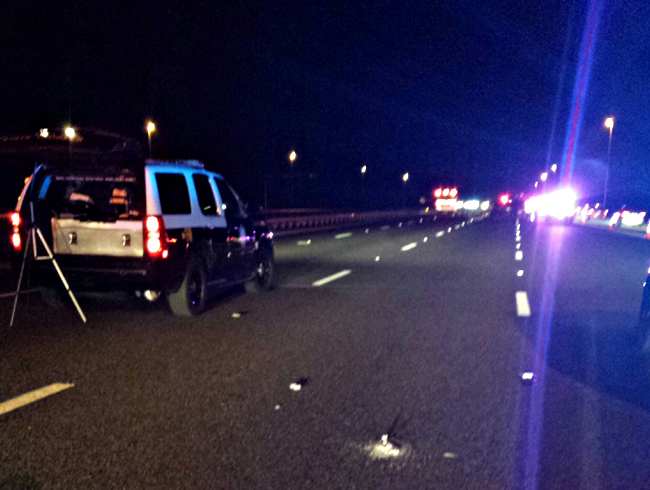 I-95 northbound was closed Friday evening after a suicide.