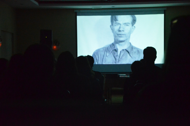 Richard Gold's 'In the Footsteps of Willie Sutton' was one of films screened Saturday at the inaugural Flagler Film Festival, held over three days at the Hilton Garden Inn in Palm Coast. (© FlaglerLive)