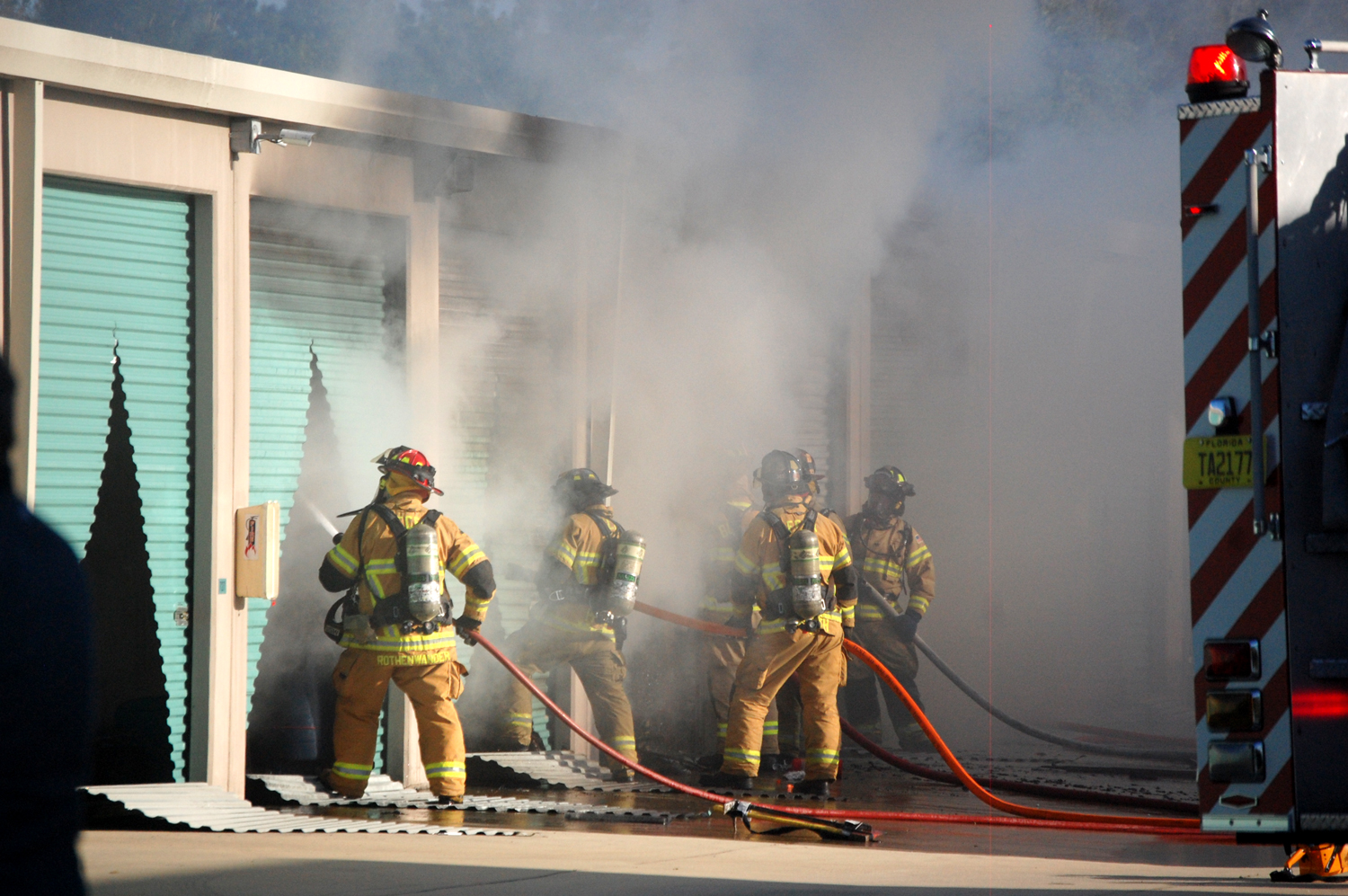 Fire At Eagles Nest Storage In Flagler Beach Claims Or Damages 8 Units |  FlaglerLive