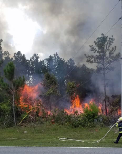 The fire in Seminole Woods. (Flagler County Fire Rescue)