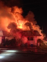 The fire as it burned before sunrise. Click on the image for larger view.