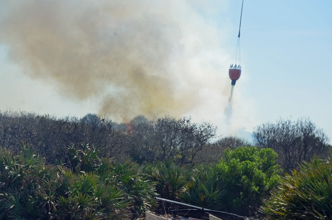 Fire Flight, on target. Click on the image for larger view. (© FlaglerLive)