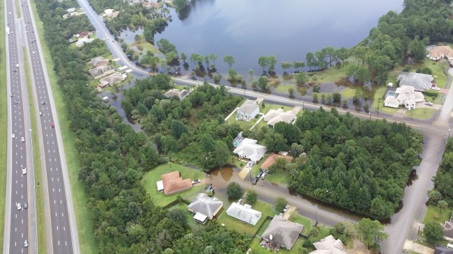 From Flagler County Fire Flight, toie B Section and I-95. Click on the image for larger view. (© FlaglerLive)