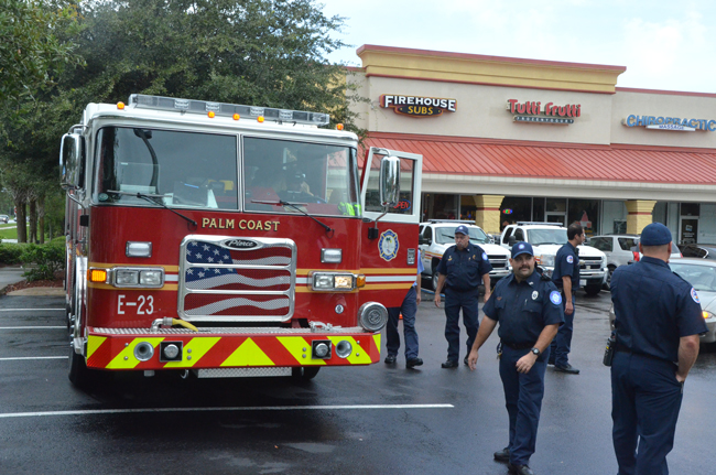 Firefighters have always been among Firehouse Subs' core customers. The company was founded by firefighters in Jacksonville in 1994 and has grown to more than 650 restaurants in 36 states. (© FlaglerLive)