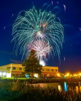Fireworks in Central Park. Click on the image for larger view. (Palm Coast)