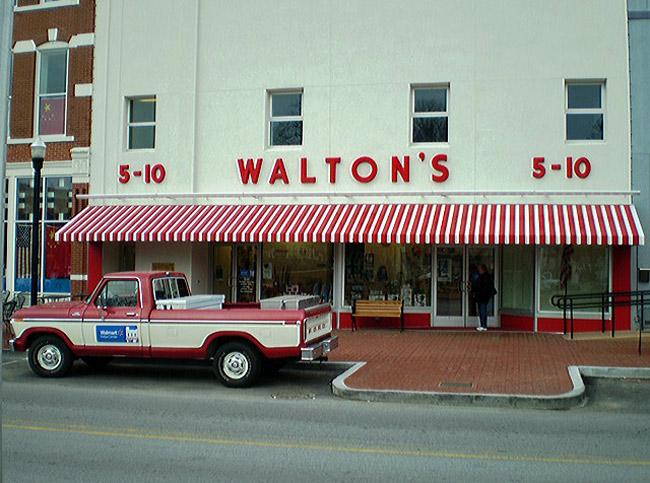 The first Walmart in Rogers, Ark., a 16,000-square-foot store, opened at the corner of Walnut and Eighth Streets on July 2, 2962.