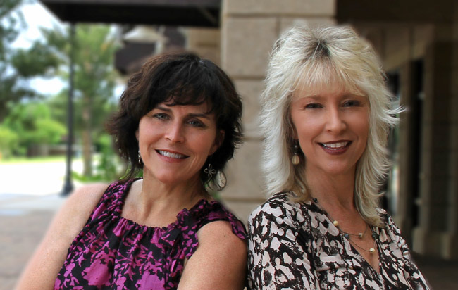 Kim Fitzgerald, left, and Cindy Dalecki.