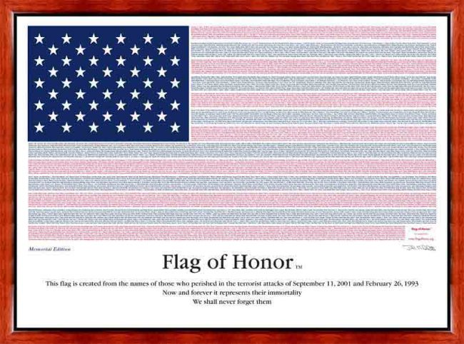 flag of honor 9/11