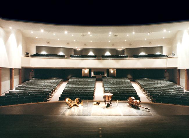 flagler auditorium stage instruments anniversary
