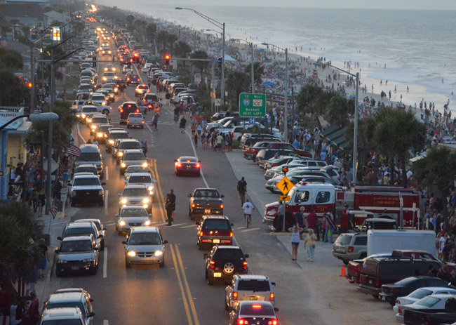 The Flagler Beach police chief estimates that the July 4 events in the city drew between 25,000 and 30,000 people Wednesday. The above is a file photo. (© FlaglerLive)