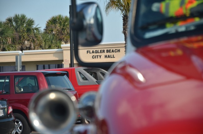 Flagler Beach City Manager Bruce Campbell wants his fire and police captains, as he would rename them, more directly involved in day-to-day operations along their rank and file. Click on the image for larger view. (© FlaglerLive)