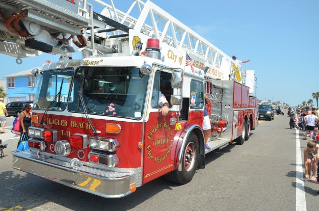 The Flagler Beach Fire Department is edging from scandal to questions about its financial viability. (© FlaglerLive)