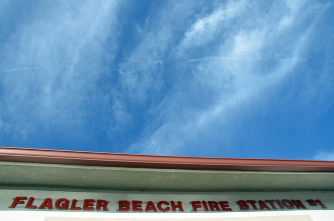 The Flagler Beach Fire Department is hoping for bluer skies. (© FlaglerLive)