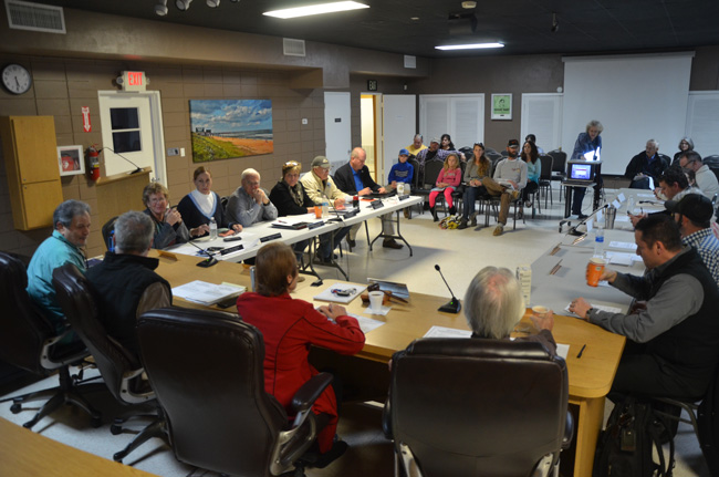 Tonight's special meeting of the Flagler Beach City Commission also included the city's planning board and its economic development task force. (c FlaglerLive)