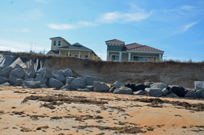 Flafgler County gets to split $13.5 million in beach repairs dollars with St. Johns County, assuming the governor doesn;t veto the appropriation. (© FlaglerLive)