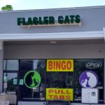 Flagler Cats in Flagler Square Plaza, in a picture from its Facebook page. It was shut down today on allegations of operating as an illegal gambling parlor.