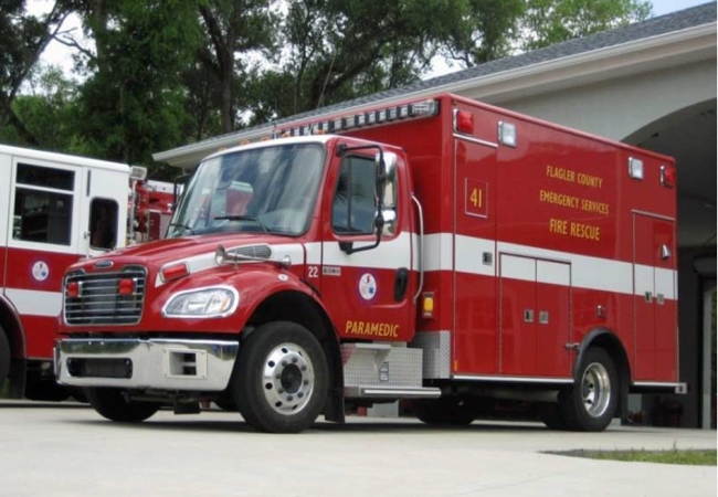 Flagler County government will be adding a seventh ambulance to its 24-hour fleet, along with three additional firefighter-paramedics, for a total of 78. (Flagler County)