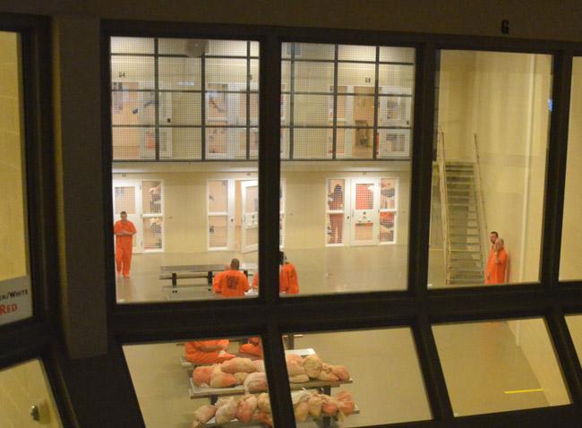 Inmates at the Flagler County jail. (© FlaglerLive)