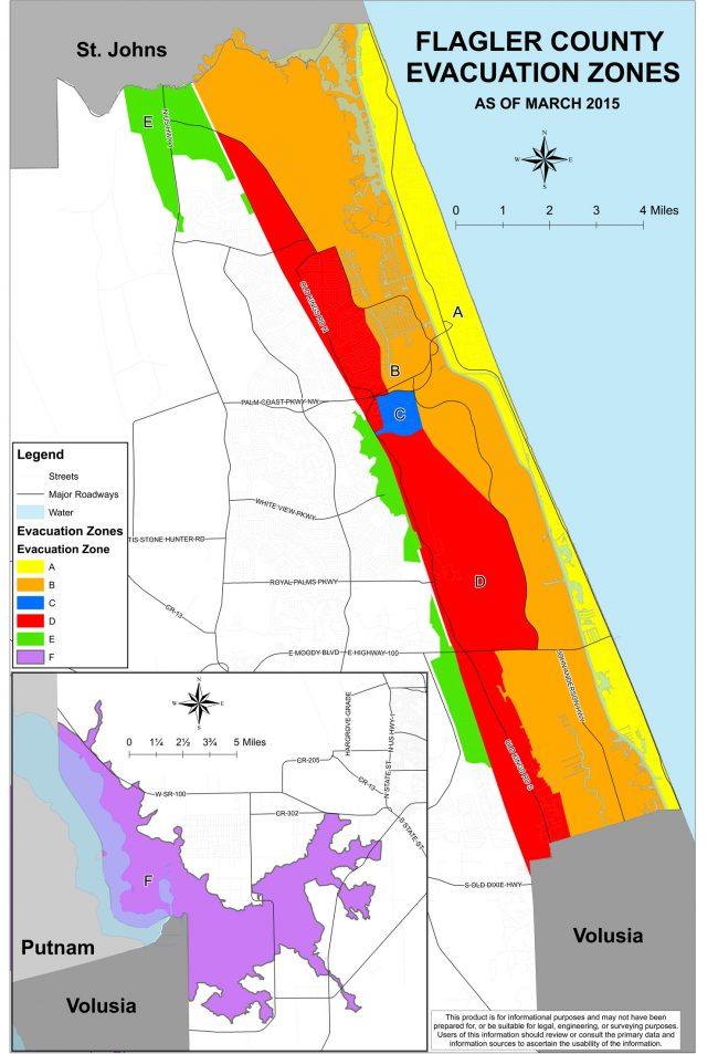 flagler county evacuation zones