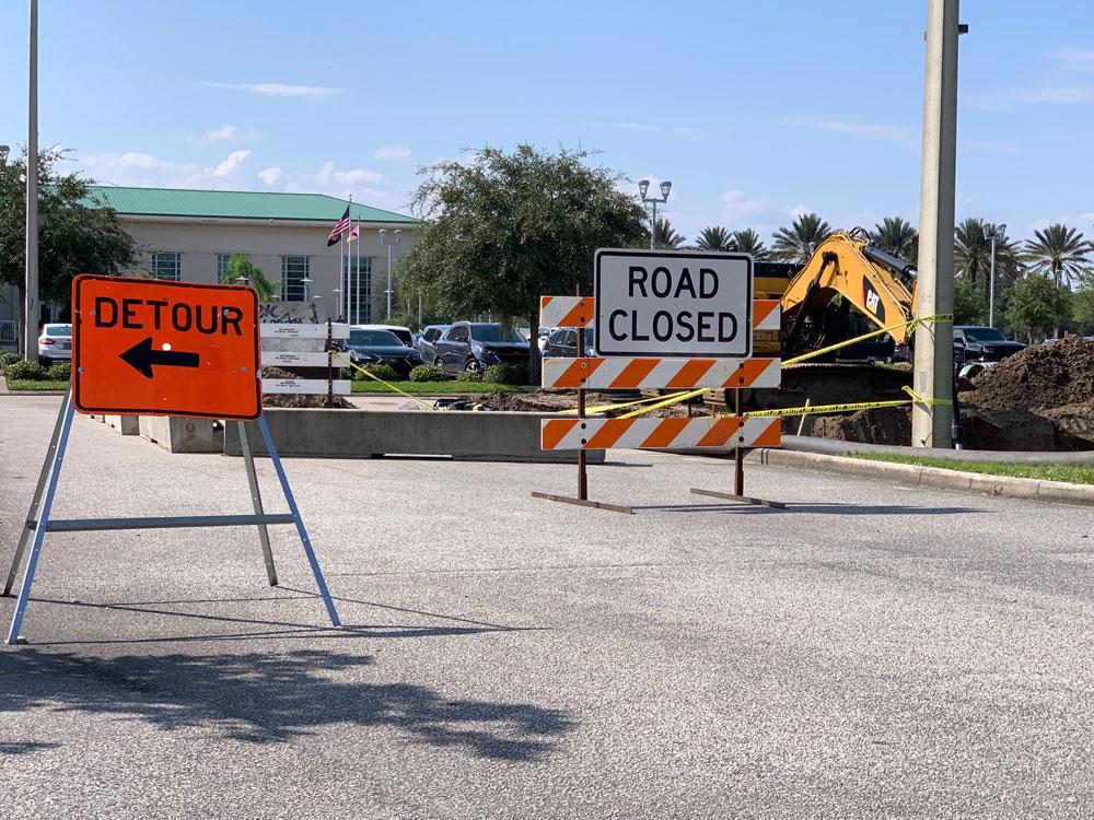 Flagler County government's idea of timing. (© FlaglerLive)