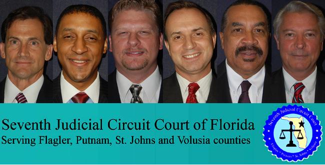 The race for Judge Kim C. Hammond\'s seat: from left, Dennis Craig, Marc Dwyer, Ed Haenftling Jr., Joe Horrox, Sid Nowell and John Selden. (© FlaglerLive)