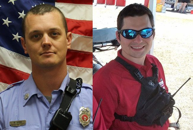Ronald Titus, left, and Justin Thomas. (Flagler County Fire Rescue)