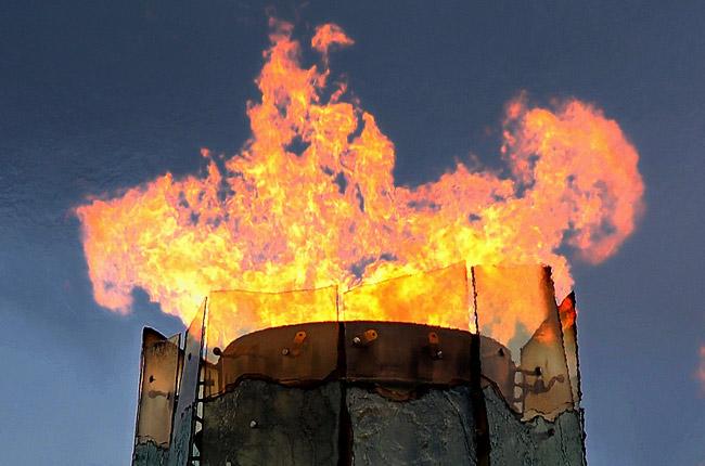 No flames yet for Flagler's First Ulympic Games. (Noel Reynolds)