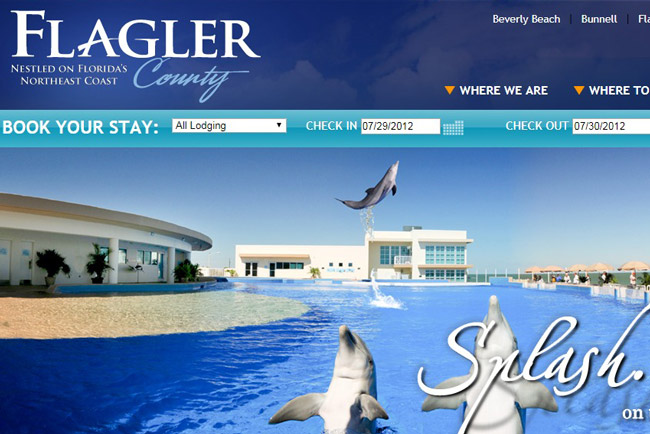 What it looked like in 2012: the visitflagler.org website, before one of its reincarnations. (© FlaglerLive)