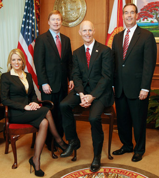 The Florida Cabinet: Pam Bondi, Adam Putnam, Rick Scott, Jeff Atwater.