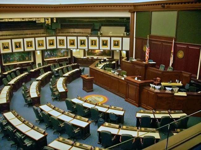 The Florida House Chamber at its best-behaved this year. (Steven Martin)