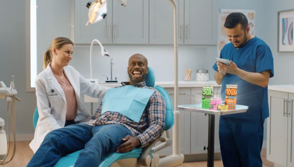 A still from the Florida Lottery's latest TV ad.