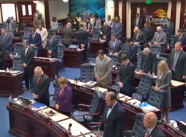 Florida had a prayer today: the House behaved. (Florida Channel)