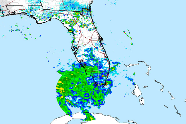 A weather system moving into the Gulf of Mexico this afternoon had a 30 percent chance of turning into a tropical storm, with potential for lashes of rain bands in Flagler's direction. (Hurricane Center)