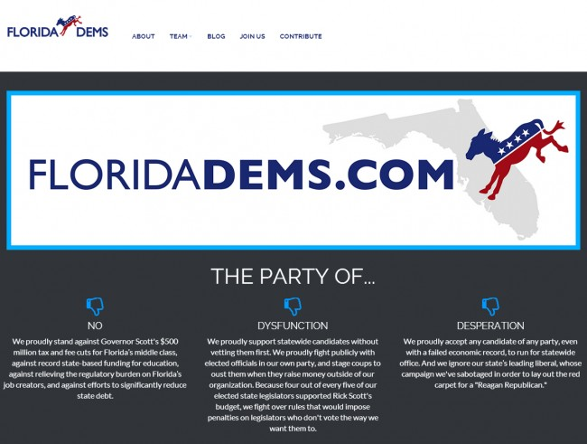 The Republican version of Democrats' world, at http://floridadems.com/