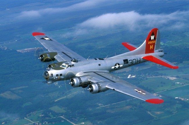 The B-17 Flying Fortress, workhorse of World War II, is among the 50-some planes on display at Wings Over Flagler Rockin the Runways this weekend. Click on the image for larger view. (EAA)